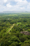 Genre d'une roche de Sigiri images libres de droits