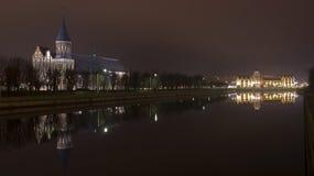 Genre de nuit sur la cathédrale I.Kanta. Image libre de droits
