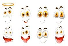 Genre différent d'expressions du visage Image libre de droits