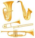 Genre différent d'instruments classiques illustration stock