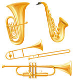 Genre différent d'instruments classiques Photos libres de droits