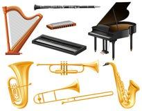 Genre différent d'instruments de musique Image libre de droits