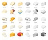 Genre différent de bande dessinée de fromage, icônes mono dans la collection réglée pour la conception Web d'actions de symbole d illustration libre de droits
