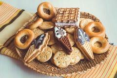 Genre différent de biscuits Images stock