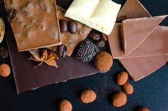Genre différent de chocolat photographie stock
