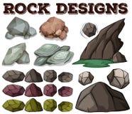 Genre différent de conceptions de roche Photographie stock