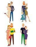 Genre différent de familles illustration stock