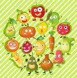 Genre différent de fruits et légumes Illustration Stock