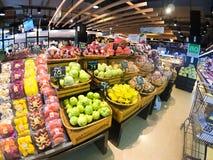 Genre différent de fruits tropicaux Fruits de coupe Photographie stock libre de droits