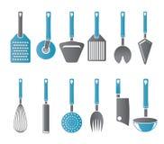 Genre différent de graphismes d'accessoires de cuisine Image stock