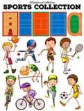Genre différent de sports et de cours Photo libre de droits