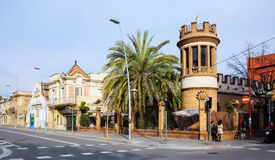 Genre pittoresque de Badalona. Barcelone Photo libre de droits
