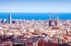 Genre supérieur de Barcelone dans le jour ensoleillé Image libre de droits