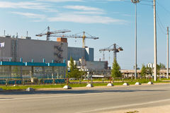 Genre sur la centrale nucléaire Photos stock