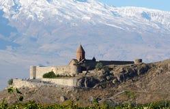 Genre sur le monastère de Hor Virap Photos libres de droits