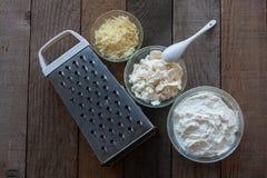 Genre trois de fromage photographie stock