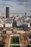 Genre vers Paris de d'Eiffel d'excursion Photo libre de droits