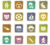 Genres of cinema icons set Stock Photography