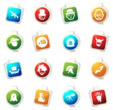 Genres of cinema icons set. Set of movie genres color icon for web sites and user interfaces Stock Images