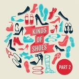 Genres de chaussures Partie 2 photo stock