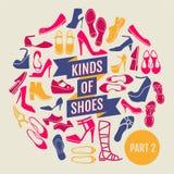 Genres de chaussures Partie 2 Photographie stock libre de droits