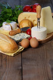 Genres de fromage Images stock