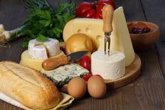 Genres de fromage Images libres de droits