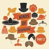 Genres de headwear Partie 2 illustration libre de droits