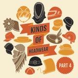 Genres de headwear Partie 3 illustration stock
