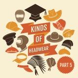 Genres de headwear Partie 5 illustration de vecteur