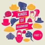 Genres de headwear Partie 3 Image stock
