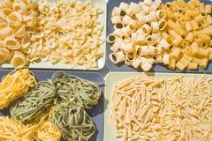 Genres de pâtes photo stock