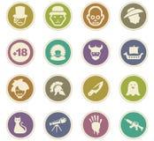 Genres des icônes de cinéma réglées Image stock