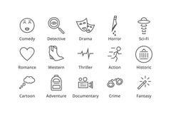 Genres. Include detective, comedy, sci-fi etc. Genres. Include detective, comedy, sci-fi action thriller etc Stock Photo