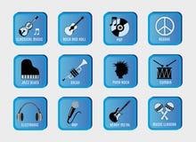 Genres musicaux Photos libres de droits