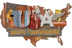 Gens américains Art Sign de thanksgiving photos libres de droits