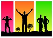 Gens colorés Image libre de droits