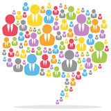 Gens colorés de bulle de la parole Image libre de droits