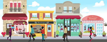 Gens d'achats illustration stock