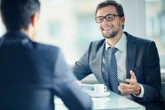 Gens d'affaires à l'entrevue Photo libre de droits