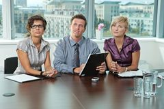 Gens d'affaires à l'entrevue d'emploi Photos libres de droits