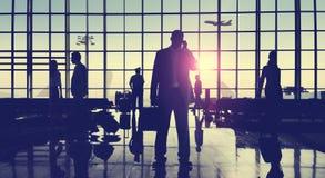 Gens d'affaires arrières d'aéroport de Lit de concept de déplacement de passager Image libre de droits