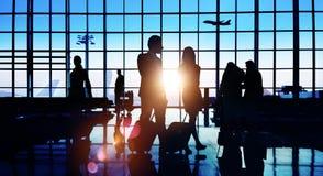Gens d'affaires arrières d'aéroport de Lit de concept de déplacement de passager Photo stock