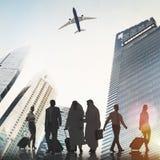 Gens d'affaires arrières d'aéroport de Lit de concept de déplacement de passager Photographie stock