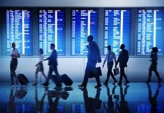 Gens d'affaires arrières d'aéroport de Lit de concept de déplacement de passager Photos stock