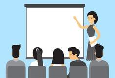 Gens d'affaires asiatiques de groupe de présentation d'hommes d'affaires Team Training Conference Meeting de l'Asie illustration libre de droits
