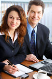 Gens d'affaires avec l'ordinateur portatif Images libres de droits