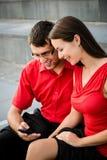Gens d'affaires avec le smartphone Photo libre de droits