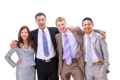 Gens d'affaires beaucoup ethnique heureux Photo stock