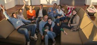 Gens d'affaires d'équipe sur la réunion Photo libre de droits